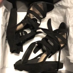 Torrid Black WIde Strappy Heels